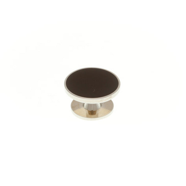 Black Enamel Round Dress Stud by Elizabeth Parker