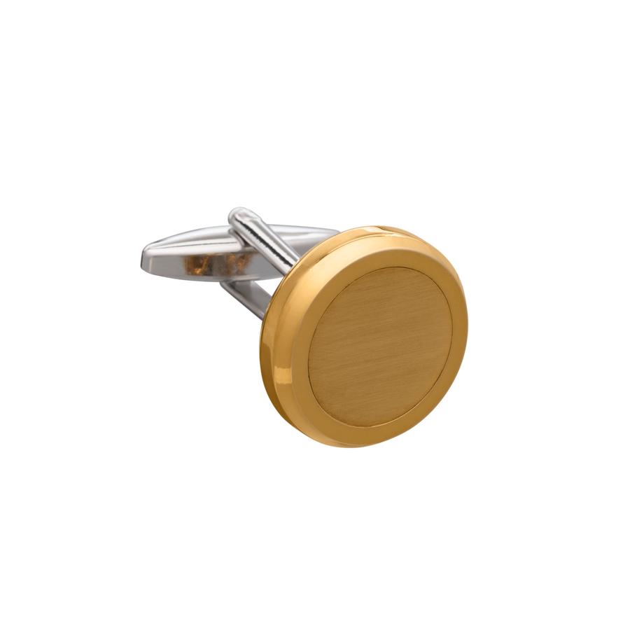 The Multifacet 3 in 1 Gold Plated Button Cover Cufflinks