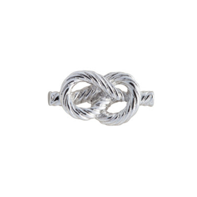Rope style design simply metal lapel pin from Elizabeth Parker