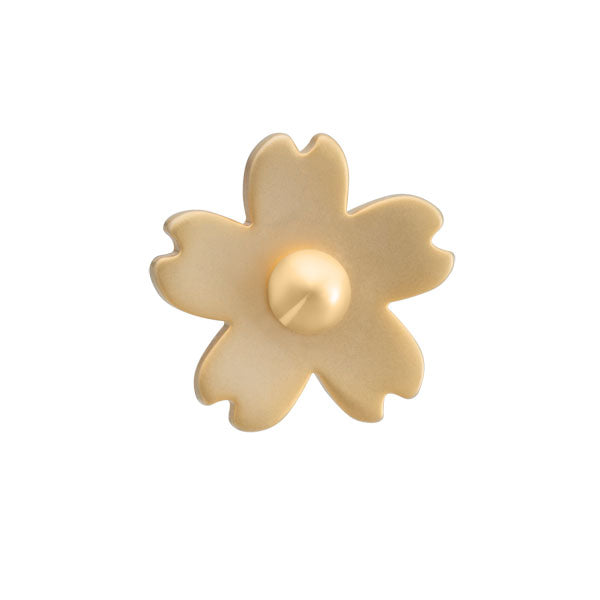 Elizabeth Parker Antique Gold Cherry Blossom Lapel Pin