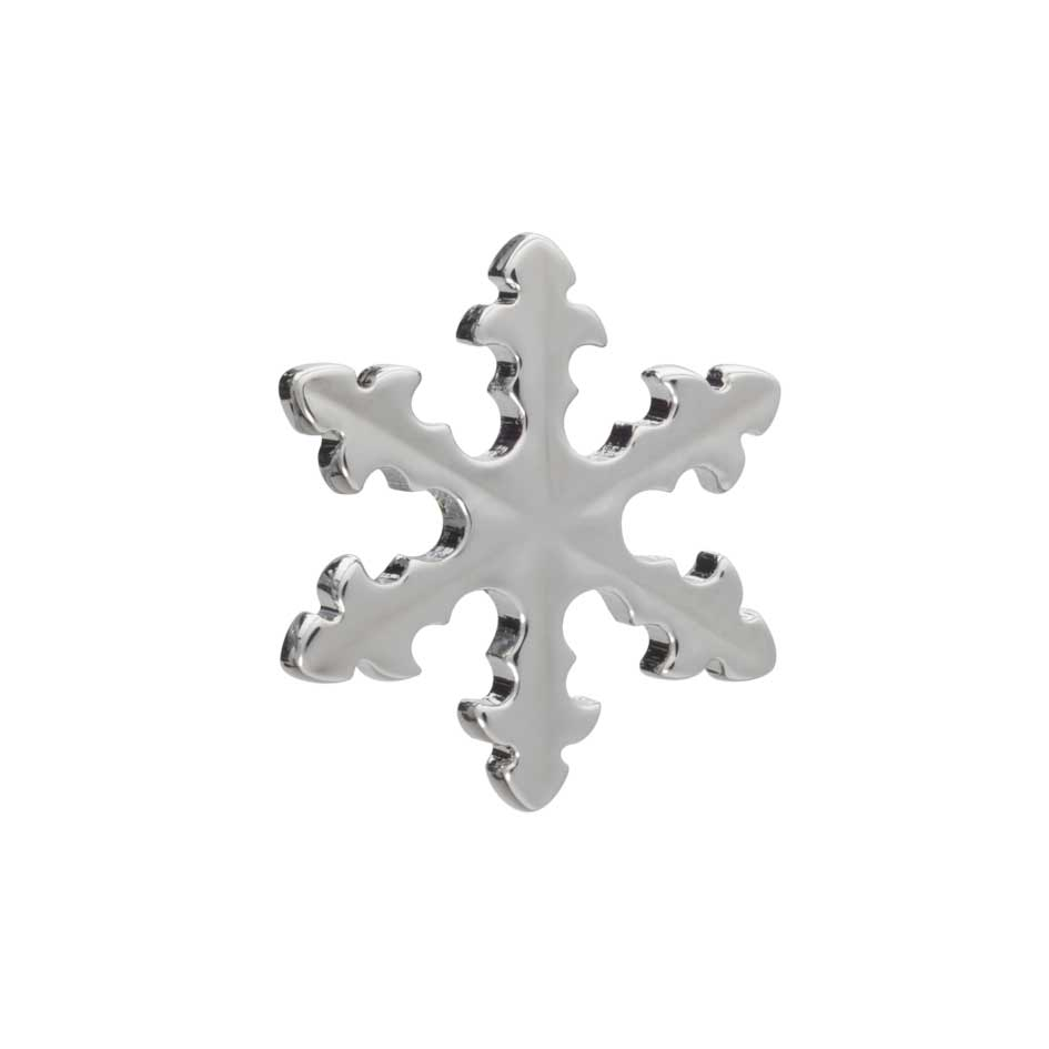 Simply Metal Snowflake Lapel Pin by Elizabeth Parker