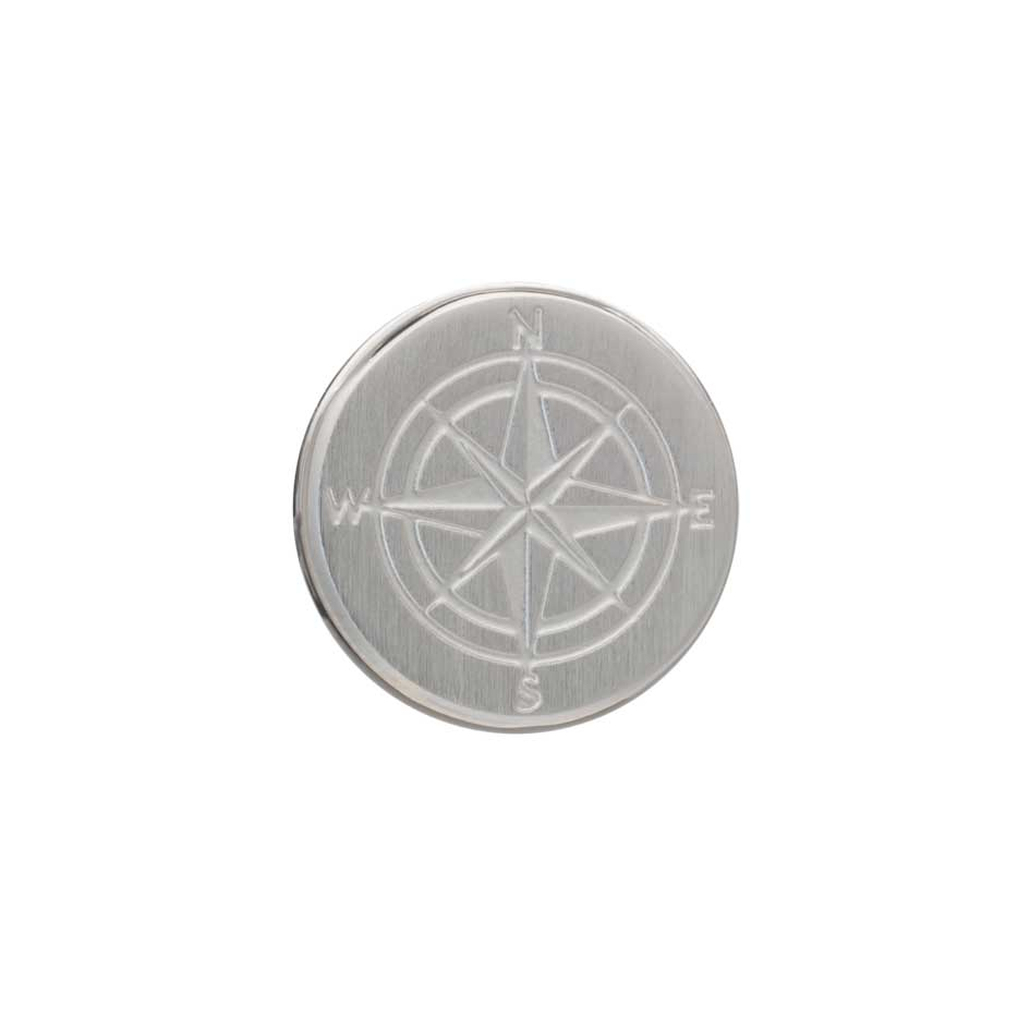 Laser Engraved Compass Lapel Pin by Elizabeth Parker