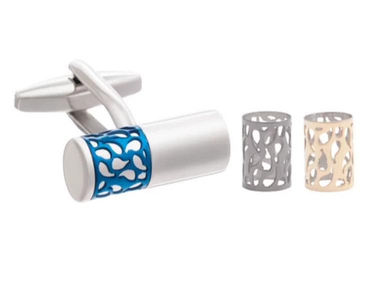 Interchangeable Filigree Bar Cufflinks