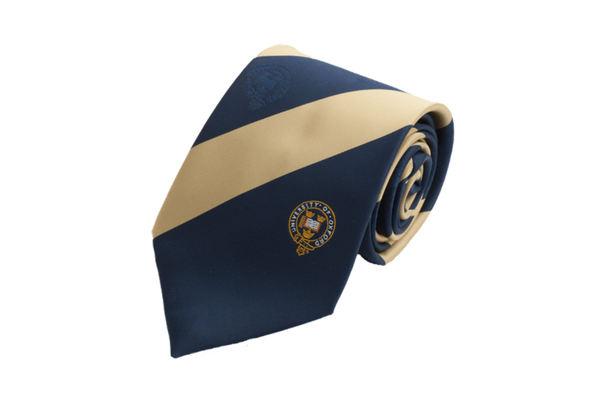 Official University of Oxford Gold Broad Stripe Tie