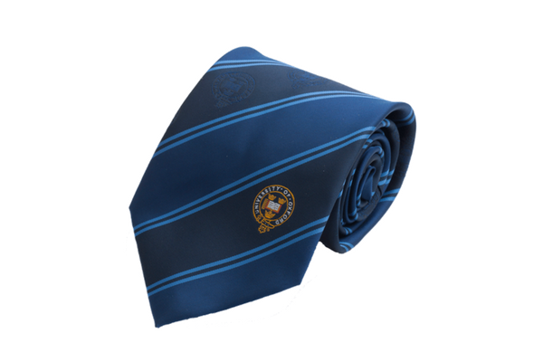 University of Oxford Double Stripe light and dark blue tie