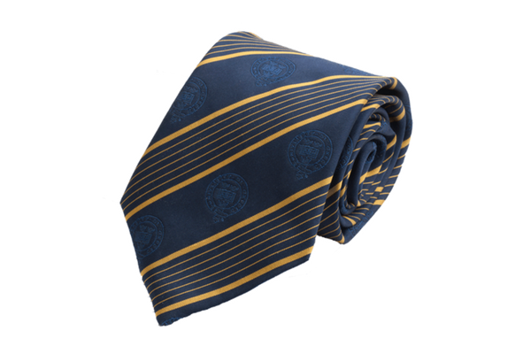 Oxford University Alumni Tie In Blue and Gold