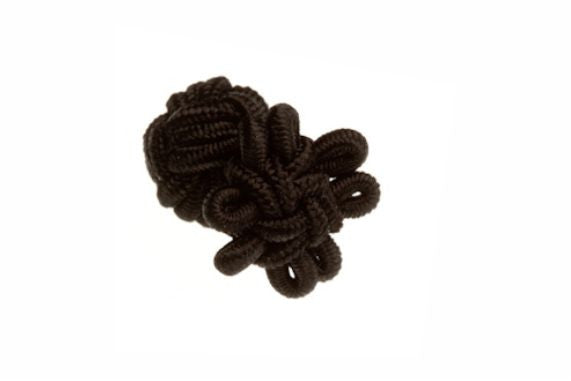 Black Flower Shaped Cuffknots Knot Cufflinks - by Elizabeth Parker England