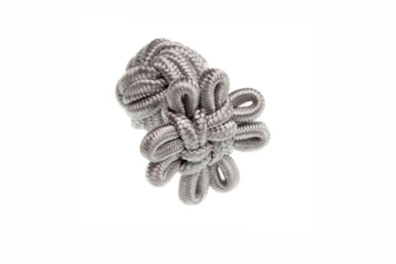 Grey Flower Shaped Cuffknots Knot Cufflinks - by Elizabeth Parker England