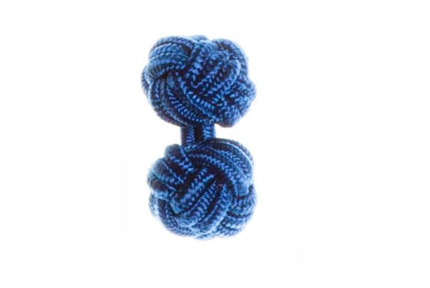 Royal Blue Cuffknots Silk Knot Cufflinks - by Elizabeth Parker England