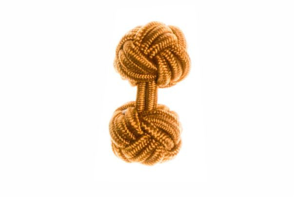 Whiskey Brown Cuffknots Knot Cufflinks - by Elizabeth Parker England
