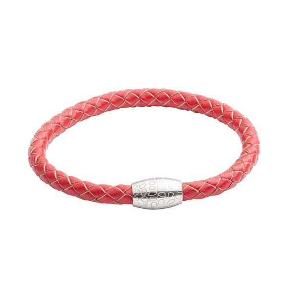 Red Leather Kitoko Bracelet by Elizabeth Parker