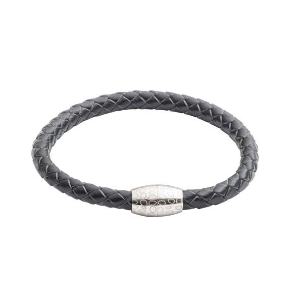 Kitoko Black Leather Bead Bracelet by Elizabeth Parker