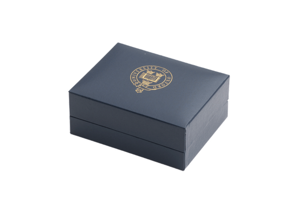 University of Oxford Blue Tie Slide Box