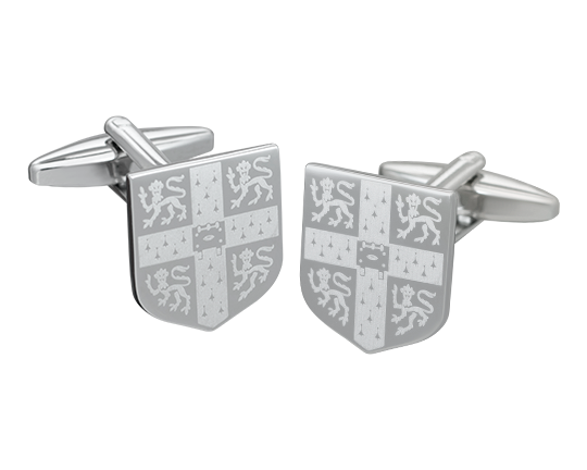 Official University of Cambridge Laser Engraved Crest Cufflinks