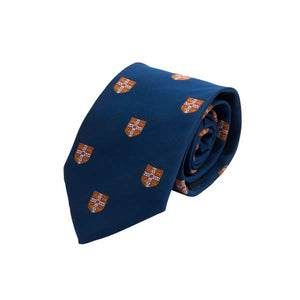 Official University of Cambridge Navy with Red Crest Silk Tie