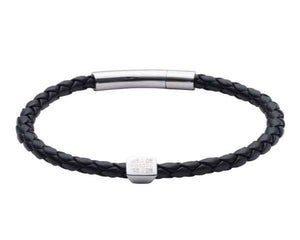 Official University of Cambridge Black Leather Bracelet