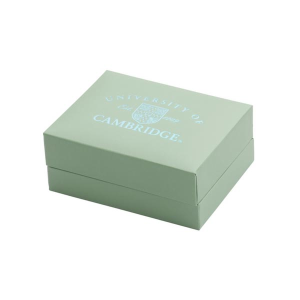 Official University of Cambridge Light Blue Cufflink Box