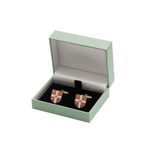 Official University of Cambridge Red Crest Cufflinks