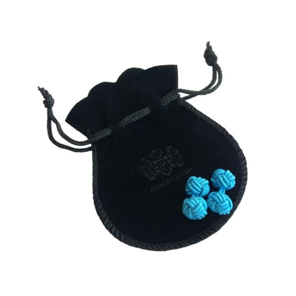 Navy Blue Flower Shaped Cuffknots