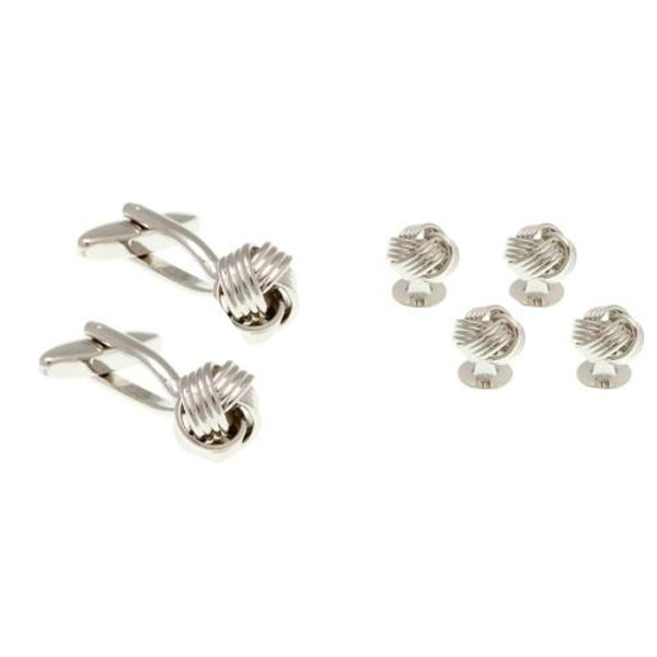 Knot Style Dress Studs & Cufflinks Set by Elizabeth Parker England