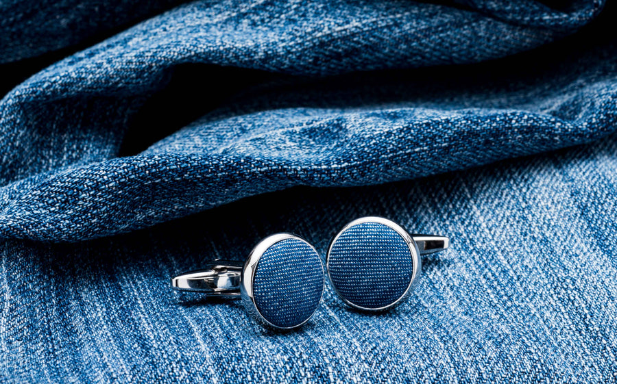 The Rebel Tuxedo Denim Cufflinks