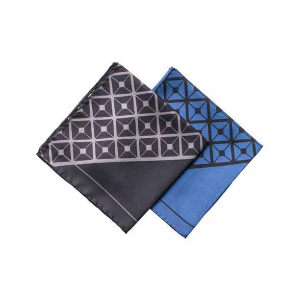 Diagonal Square Silk Pocket Square Range By Elizabeth Parker