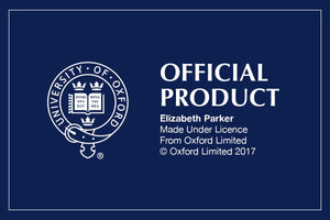 Official University of Oxford Double Stripe Crest Tie with Blue