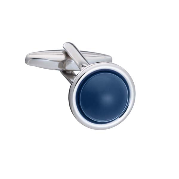 Spot It Navy Blue Cufflinks