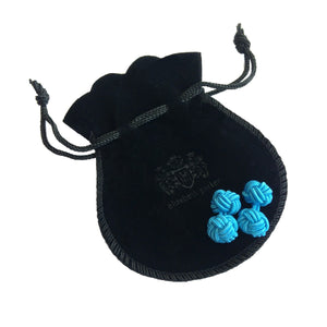 Black Sparkle & Electric Blue Cuffknots