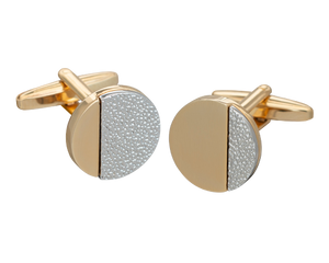 Gold Hammered Odds Cufflinks