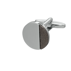 Gunmetal and Silver Hammered Odds Cufflinks