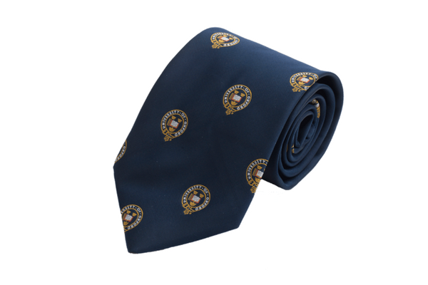 University of Oxford all over crest men's silk tie