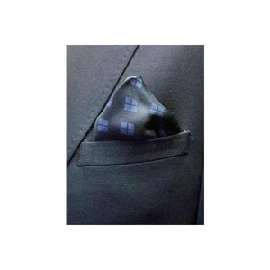 Elizabeth Parker Blue Diamond For Ever Silk Pocket Square in jacket pocket