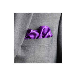 Elizabeth Parker Purple Check Grid Silk Pocket Square in Jacket Pocket