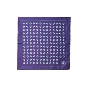 Blue Daisy Do Silk Pocket Square by Elizabeth Parker