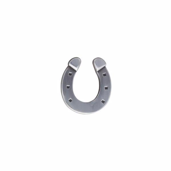 Simply metal lucky horseshoe lapel pin by Elizabeth Parker