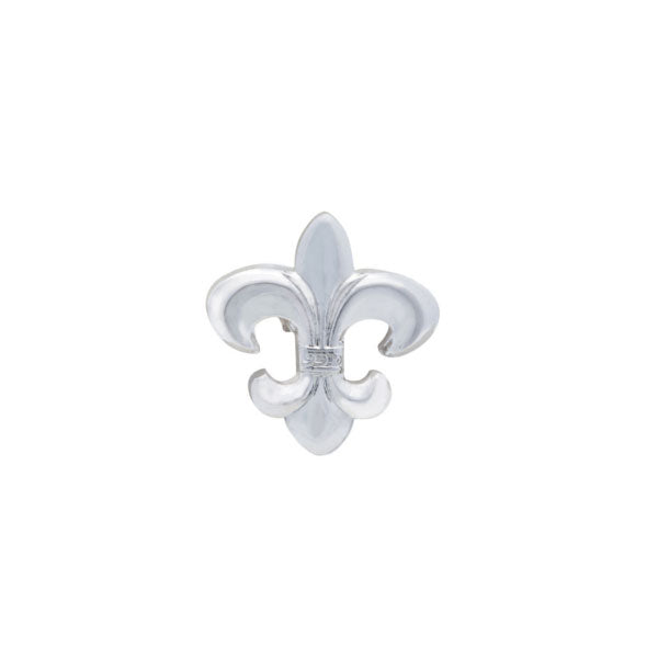 Simply Metal Fleur de Lys Lapel Pin by Elizabeth Parker