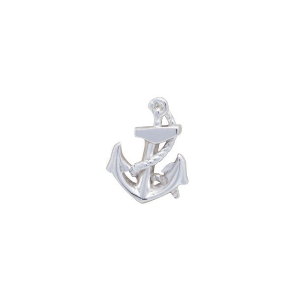 Simply Metal Anchor & Rope Lapel Pin by Elizabeth Parker
