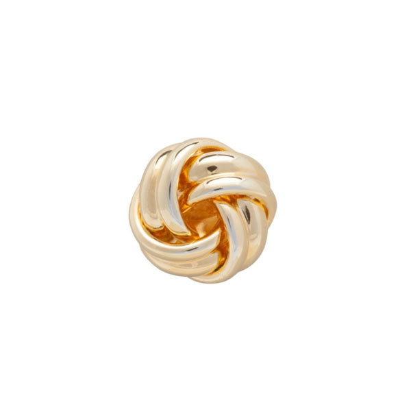 Gold Plated Knot Simply Metal Lapel Pin by Elizabeth Parker