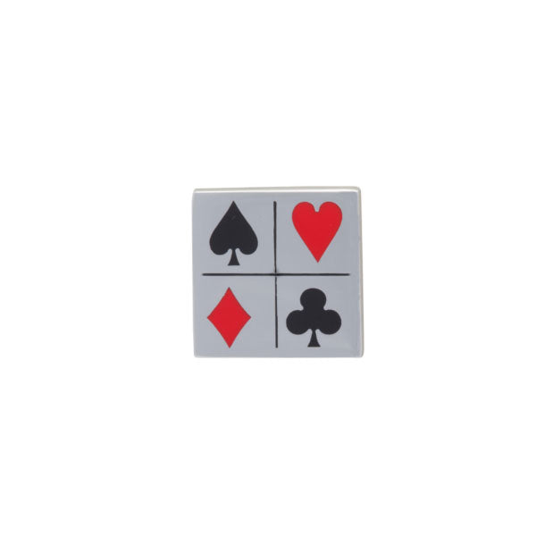 Playing Card Suit Lapel Pin by Elizabeth Parker