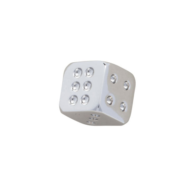 Simply Metal Playing Dice Lapel Pin by Elizabeth Parker