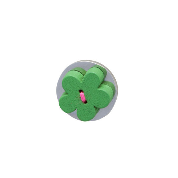 Green Wooden Lapel Pin by Elizabeth Parker