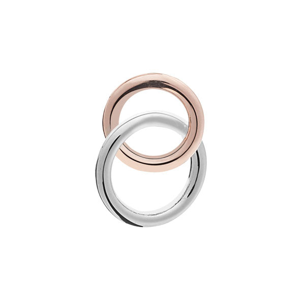 Intertwined Double Band Love Rings Lapel Pin by Elizabeth Parker