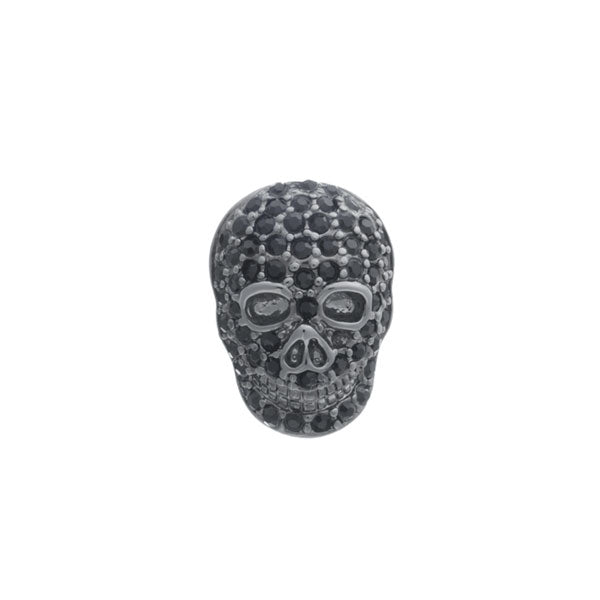 Black Crystal Skull Lapel Pin by Elizabeth Parker