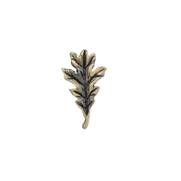 Antique finish vintage styled leaf lapel pin by Elizabeth Parker