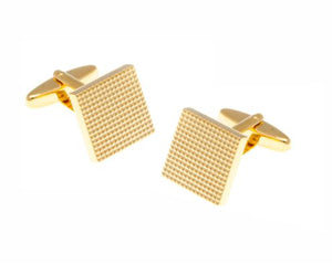 Grid Design Gold Plated Cufflinks