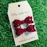 Diddy Glitter Bow - Pair