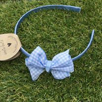 Baby Blue Gingham Alice Band