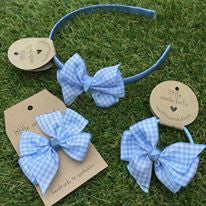 Baby Blue Gingham Bow
