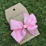 Baby Pink Gingham Bow